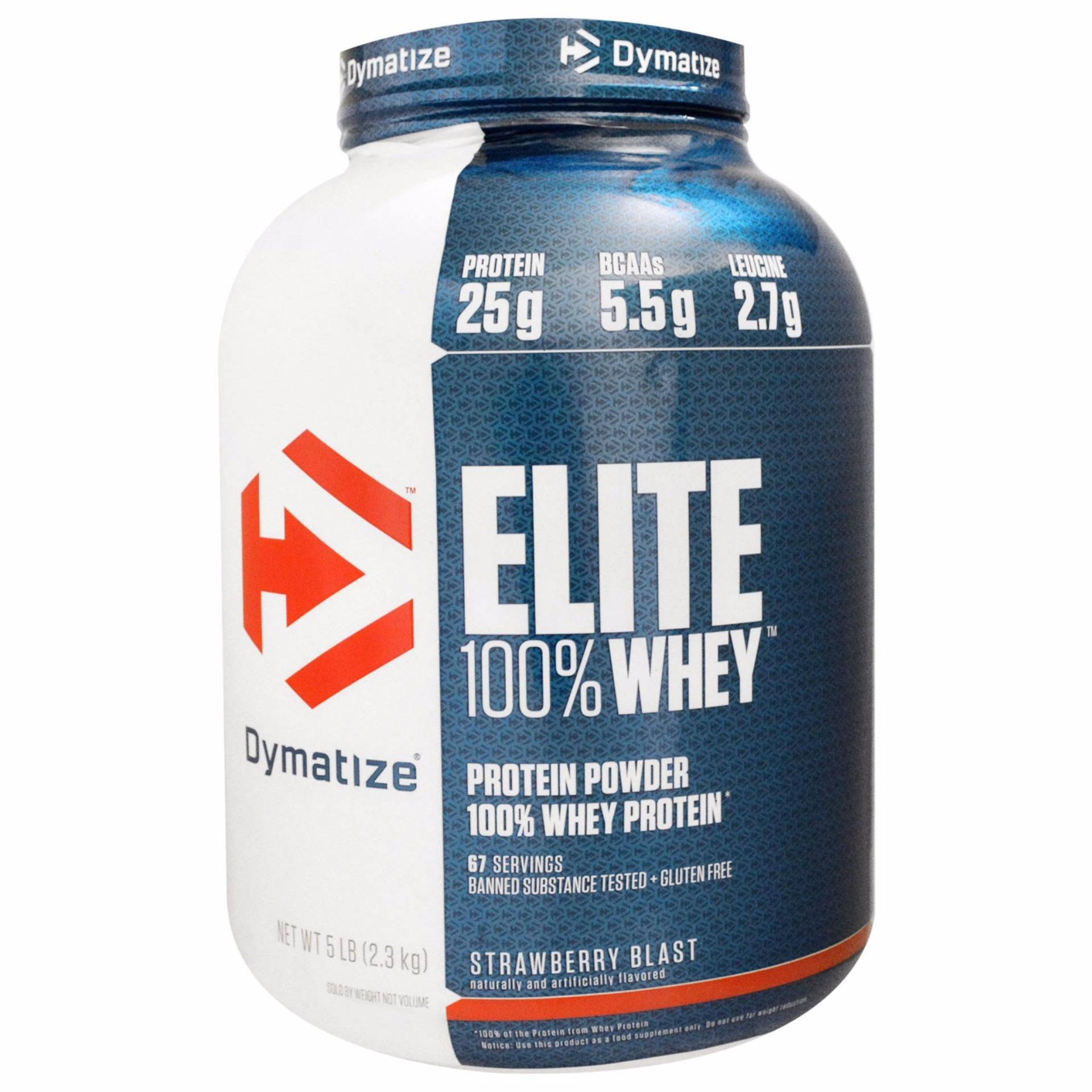 Model New Dymatize Elite Whey Protein Isolate 5 Lb Rasa Strawberry Terbaru