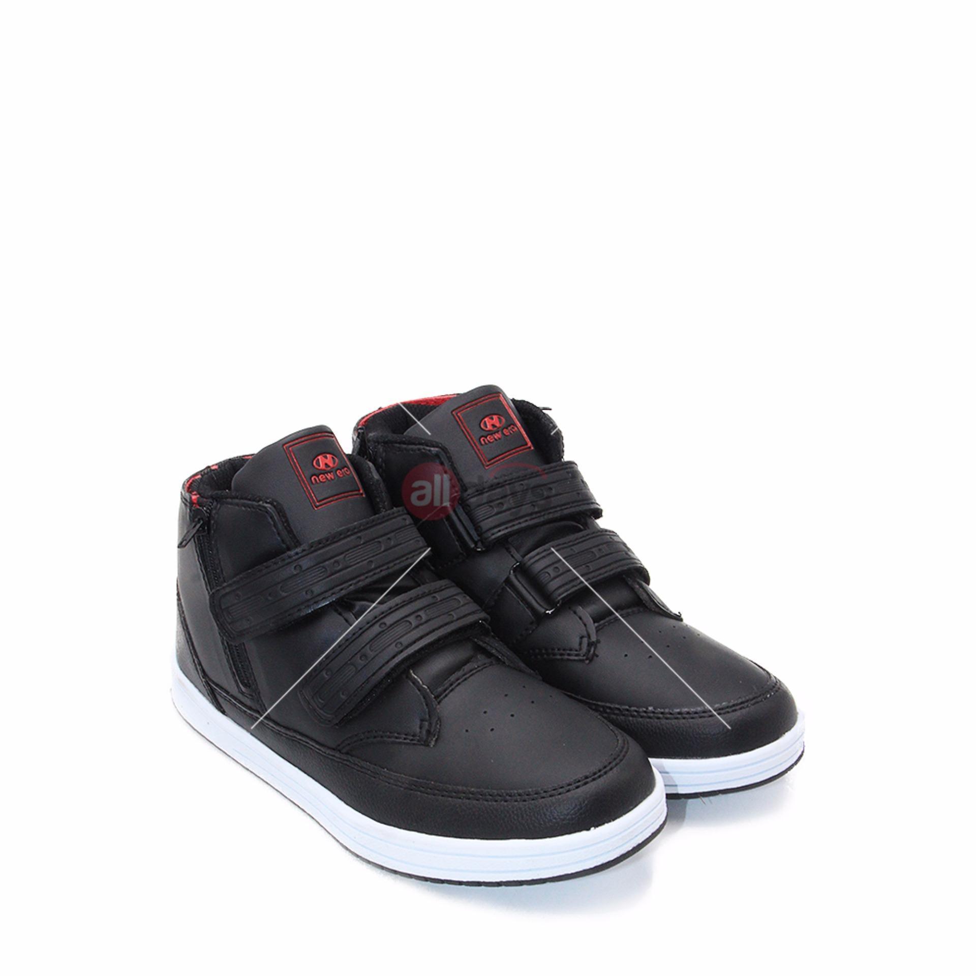 Toko New Era Sepatu Boot Sneakers Anak Laki Laki Sepatu Sokolah Marshal Black Red Size 34 37 Di Dki Jakarta