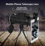 Toko Baru Lensa Eksternal Untuk Iphone Samsung Umum Ponsel Kamera Lensa Telefoto 40X60 Tinggi Tenaga Ultra Jelas Teleskop Luar Ruangan Terdekat