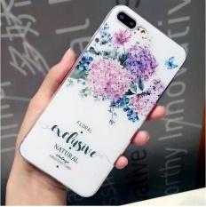 Fashion BARU untuk Apple IPhone 6 6 S Case Soft Scrub Pola Bunga Coque Phone Cover Case-Intl