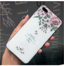Fashion BARU untuk Apple IPhone 6 6 S Plus Case Soft Scrub Pola Bunga Coque Phone Cover Case-Intl