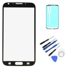 Harga Baru Untuk Samsung Galaxy Note 2 N7100 Touch Screen Outer Lensa Kaca Depan Dengan Bingkai Perekat Tape Alat Perbaikan W0F31 P0 25 Intl Murah