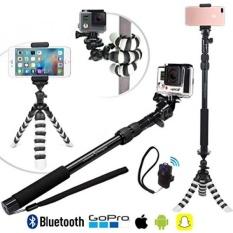 BARU HD Fleksibel Tripod & Selfie Stick 4-In-1 Foto/Video Bundle W/Bluetooth Remote -Menciptakan Alam Ini dengan Baik Kit untuk IPhone 7 & 6 Plus, samsung S8, GOPRO HERO 5 & Semua Kamera Digital-Intl