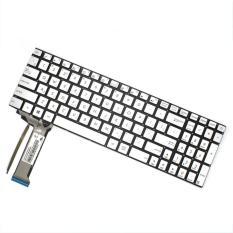 New Keyboard Laptop For ASUS N551 N551J N551JK N551JM N551JQ N551ZU N551Z 9Z.N8BBC.P01 - SILVER (BackLight)