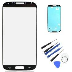 Baru LCD Luar Lensa untuk Samsung Galaxy S4 I9500 Touch Screen Kaca Depan dengan Bezel Frame Adhesive Tape Alat Perbaikan W0F29 P0.25-Intl