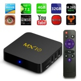 New Mx10 Android 7 1 Smart Tv Box 4Gb Ram 32G Rom Rockchip Rk3328 Quad Core Kodi Suppot H 265 Uhd 4K 2 4G Wifi Set Top Box Asli