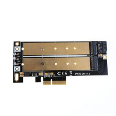 New NGFF M.2 B/B+M KEY or PCIE SSD to SATA Board High Speed Adapter Card