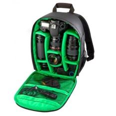 Baru Pola Tas Kamera DSLR Video Foto Backpack ForCamerad3200 D3100 D5200 D7100 Ransel Kamera Compact Kecil (Hijau) -Intl