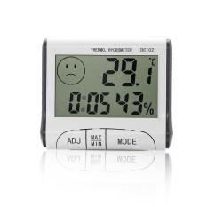 Promosi Baru Sunweb Penjualan Baru Sunweb LED Digital Suhu Kelembaban Meter Gauge Higrometer Jam Alarm-Internasional