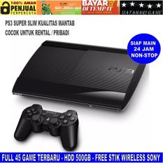 New PS3 - Sony Playstation 3 SUPER SLIM 500GB - FREE 45 GAME - SONY