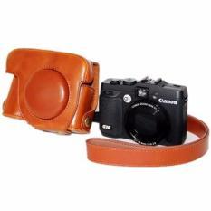 Baru PU Kulit Tas Kamera Kantong Sarung Pelindung untuk Canon PowerShot G15 (Intl)-Intl