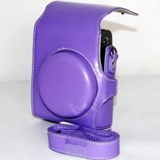 Baru PU Kulit Kamera Bahu Tali Tas Pouchcoverforfujifujifilm Instax Mini 90Purple  X89-Internasional