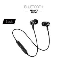 Baru S6-6 Bluetooth Headset olahraga Wireless menjalankan headphone & mikrofon untuk Iphone Android earphone speaker Stereo mikrofon BT 4.1 - hitam + hitam
