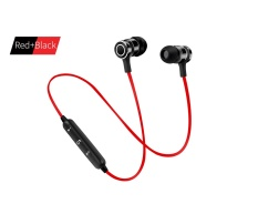 Harga Baru S6 6 Headset Bluetooth Olahraga Nirkabel Menjalankan Headphone Mikrofon Untuk Iphone Android Earphone Speaker Stereo Mikrofon Bt 4 1 Merah Hitam Asli