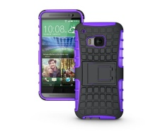 Baru Shockproof Hybrid PC + Karet Cover Case Kulit untuk HTC One M9 Ungu-Intl