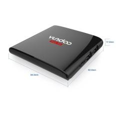 Gaya Baru YunDoo Y6 TV Box Amlogic S905X Quad Core Cortex A53 2.0 GHz 64bit Android 6.0 BT 4.0 RAM 2 GB ROM 32 GB HDMI 2.0 4 K * 2 K 60fps HDR 10 Wifi 2.4G Streaming Media Player US-Intl