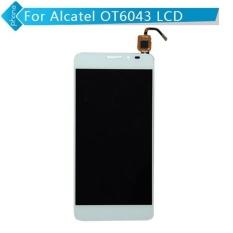 Baru Touch Digitizer Layar LCD Display Assembly untuk Alcatel Idol X + X PLUS Ot6043 6043 6043d (putih) + 3 M Tape + Membuka Alat Perbaikan + Lem