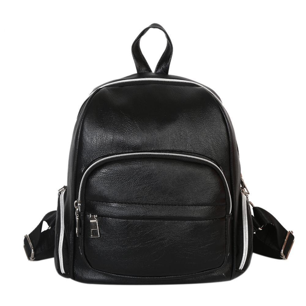Tips Beli New Travel Backpack Wanita Kenyamanan Student Schoolbag Mini Kulit Pu Internasional Yang Bagus