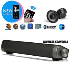 New Upgraded LP-08 HIFI Subwoofer Wireless Bluetooth 3.0 Hands-free Music Speaker TV Home Theater Soundbar Portable Audio Video Speakers Support TF Card/ 3.5mm Aux-in - intl