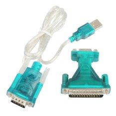 Toko Baru Usb 2 Untuk Rs232 Port Com 9 Pin Serial Db25 Db9 Kabel Adaptor Konverter Oem Tiongkok