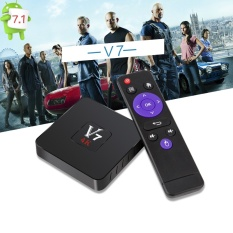 Harga Baru V7 Android 7 1 Tv Box Rk3328 Quad Core 1 Gb Ram 8 Gb Rom Set Top Box Kodi 17 1 4 K H 265 2 4G Wifi Usb 3 Smart Media Player Intl Yang Bagus
