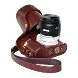 Jual Baru Vintage Pu Tas Kamera Kulit Kasus Untuk Nx300 Nx 300 Nx 300 Camera Cover Dengan Tali Bahu Intl Oem Asli