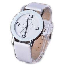 Baru Wanita Ladies Buatan Leather Band QUARTZ Wrist WatchAnalogDress Jam Tangan Pria Olahraga Watches-Intl