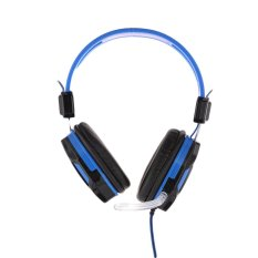 Newest Cool Gaming Headset Surround Hifi Stereo Headphone 3.5mm with Mic for PC for Game Hot Blue