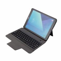 Terbaru Ultra Ramping Bluetooth Keyboard dengan Kulit Case Sarung untuk Samsung Galaksi Tab S3 9.7 T820/T825, emas-Internasional