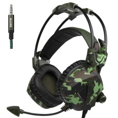 Perbandingan Harga Newly Updated Headset Sades Sa931 3 5Mm Wire Headset With Microphone Volum Control Noise Isolating Stereo Sound For Pc Ps Mac Phone Camouflage Intl Di Tiongkok