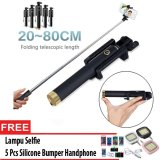 Ulasan Lengkap Tentang Next Tongsis Monopod Kabel Selfie Stick 3Generations Lampu Selfie 5 Pcs Bumper Hp