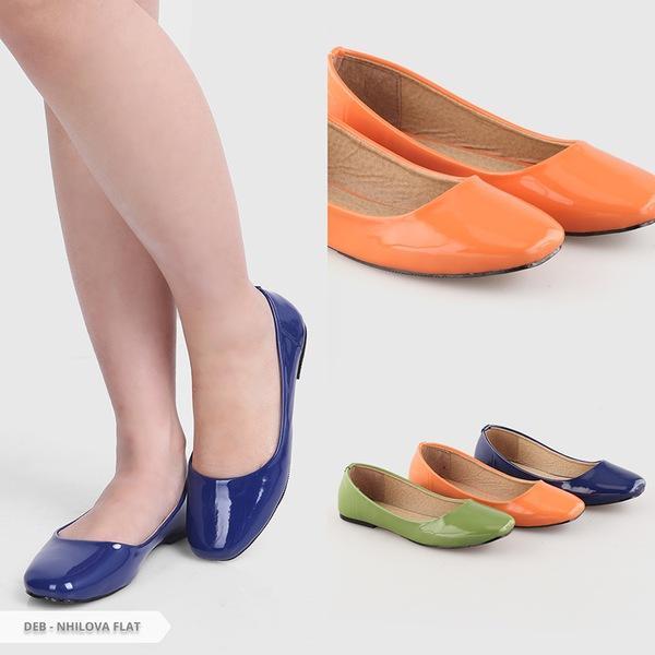 Sepatu Wanita Flatshoes Flat Shoes Glossy Mocca NFZ-13. Source · Rp 49.900.