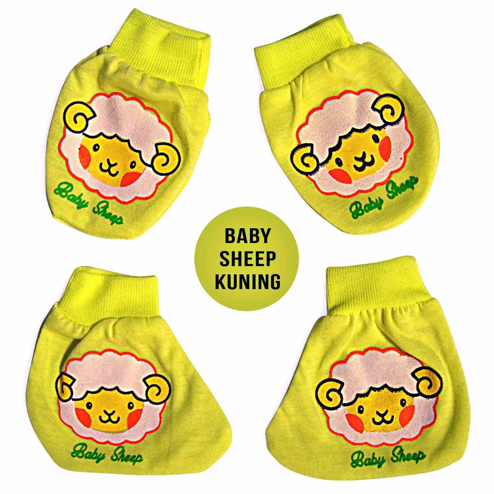 Nice Baby Set Sarung Tangan dan Sarung Kaki Bayi Motif Sheep - Kuning