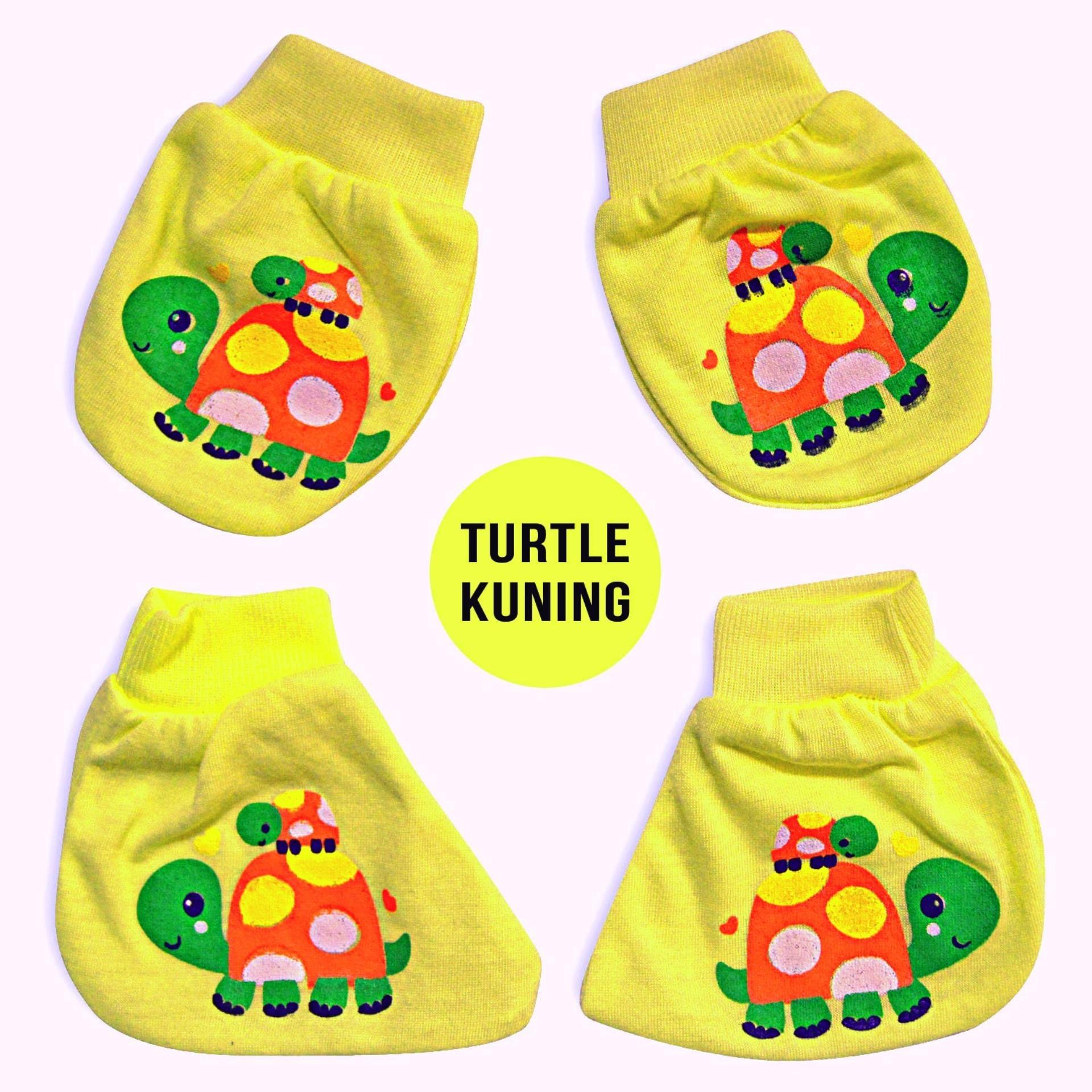 Nice Baby Set Sarung Tangan dan Sarung Kaki Bayi Motif turtle - Kuning
