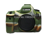 Toko Kamera Bagus Tas Video Untuk Canon 6D Silicone Case Rubber Canon Eos 6D Camera Case Pelindung Tubuh Cover Kulit Kamuflase Warna Online Di Tiongkok