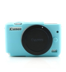 BAGUS Tas Kamera Lembut Silicone Case Rubber Kamera Pelindung Case Penutup Tubuh Kulit untuk Canon EOS M10 EOSM10 EOSM 10 Tas Kamera-Intl