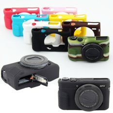 Silikon Lembut YANG BAGUS Karet Kamera Pelindung Case Penutup Tubuh Kulit untuk Canon PowerShot G7X Mark II G7X Mark 2 G7X2 Tas Kamera-Intl