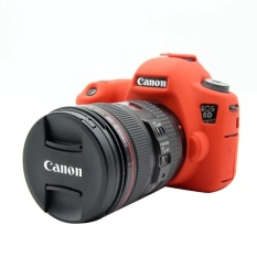 Harga Nice Soft Silicone Rubber Camera Protective Body Cover Case Skin For Canon Eos 6D Camera Bag Intl New