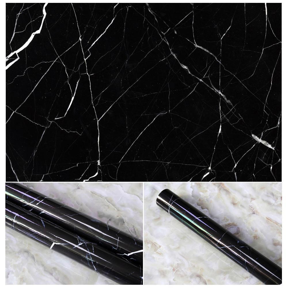 NiceEshop 10 Warna Granit Lihat Efek Marmer Kontak Kertas Film Vinyl Self Adhesive Peel-stick Counter Dekorasi TERBAIK untuk Meja Dapur, Lemari, Kamar Mandi Stiker Dinding-Internasional