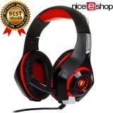 Promo Niceeshop 2016 Headphone Terbaru Yunqe Gm 1 3 5 Mm Headset Gaming Lampu Led Over Ear Headphone Dengan Kontrol Volume Mikrofon Untuk Xbox One Laptop Tablet Playstation 4 Merah Hitam International Niceeshop Terbaru