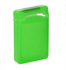 niceEshop 8.89 cm IDE SATA HDD kotak penyimpanan Hard Drive Case pelindung (hijau)