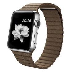 Spek Niceeshop 42Mm Genuine Leather Loop Dengan Magnet Lock Strap Penggantian Band Untuk Apple Watch Brown Intl Indonesia