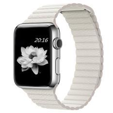 Harga Niceeshop 42Mm Genuine Leather Loop Dengan Magnet Lock Strap Penggantian Band Untuk Apple Watch Putih Intl Terbaik