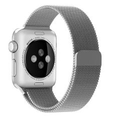 Ulasan Niceeshop 42Mm Milanese Magnetic Loop Stainless Watch Band Tali To Apple Watch Silver