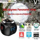 Promo Niceeshop 4 Kb 360 Derajat Panorama Wifi Kamera Ultra Hd 2448X2448 Tampilan Kamera Mini Olahraga Aksi Mengemudi Hitam Murah