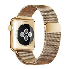 Jual Niceeshop Apple Watch Band Magnetic Clasp Mesh Loop Milanese Stainless Steel Replacement Strap For Apple Watch Sport Edition 38Mm Gold Intl