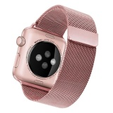 Harga Niceeshop Apple Watch Band Magnetic Clasp Mesh Loop Milanese Stainless Steel Replacement Strap For Apple Watch Sport Edition 38Mm Rose Gold Intl Baru Murah