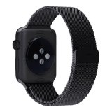 Spek Niceeshop Apple Watch Band Magnetic Mesh Loop Milanese Stainless Steel Penggantian Tali To Apple Watch Sport Edition 42Mm Hitam Intl