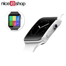 NiceEshop Bluetooth Jam Cerdas X6 Sport Passometer Smartwatch dengan Kamera Mendukung SIM Kartu WhatsApp Facebook untuk Android IOS Phone, Putih-Intl
