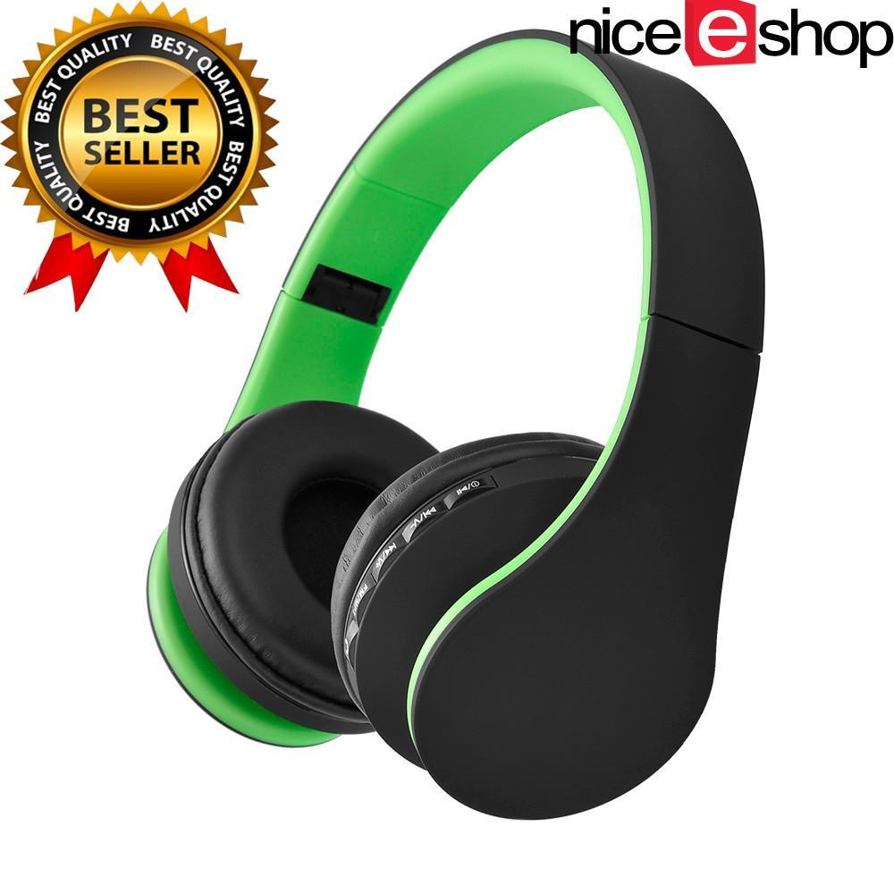 Spesifikasi Niceeshop Bluetooth Pengadaan Stereo Headphone Rops Edr Alat Pendengar Mikrofon Mp3 Fm Headset For Ponsel Pintar Tablet Hijau Hitam Yang Bagus
